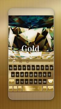 Gold Keyboard Theme poster