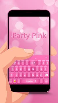 Party Pink Keyboard Theme poster