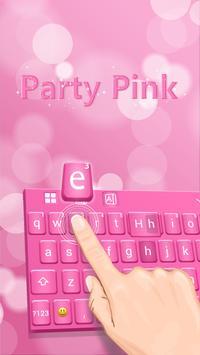 Party Pink Keyboard Theme screenshot 1