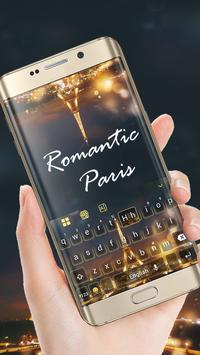 Romantic Paris Keyboard Theme screenshot 1