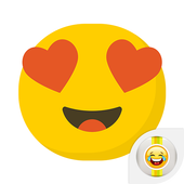 Cute Emoji Smiley Face Sticker icon