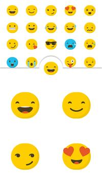 Cute Emoji Smiley Face Sticker poster