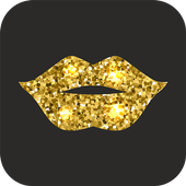Celebrity Gold Lips Makeup icon