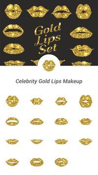 Celebrity Gold Lips Makeup poster