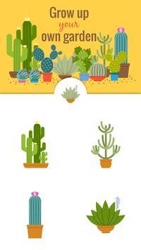 Green Floral Cactus Stickers screenshot 2