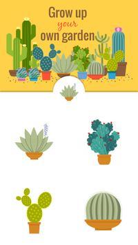 Green Floral Cactus Stickers screenshot 16