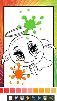coloring book for emoji : coloring page for kids poster