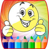 coloring book for emojis waw coloring kids icon