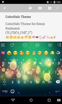 Color Halo Love Emoji Keyboard poster