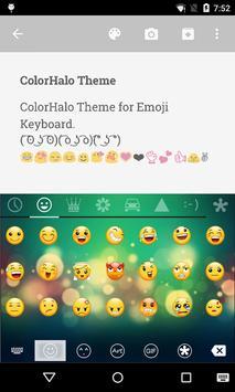 Color Halo Love Emoji Keyboard screenshot 1