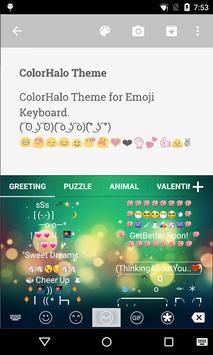 Color Halo Love Emoji Keyboard screenshot 3