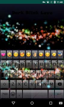 Dark Blink Love Emoji Keyboard apk screenshot