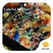 Colorful Jellyfish Keyboard icon