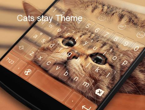 Cat Stay -Video Emoji Keyboard apk screenshot