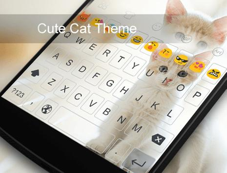 Cute Cat -Emoji Gif Keyboard apk screenshot
