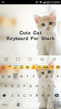 Cute Cat -Emoji Gif Keyboard poster