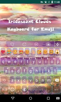 Colorful Cloud Sky Keyboard poster