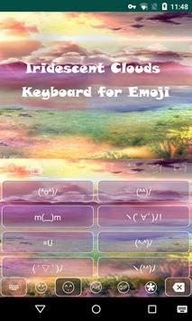 Colorful Cloud Sky Keyboard apk screenshot