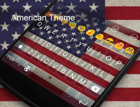 American -Love Emoji Keyboard apk screenshot