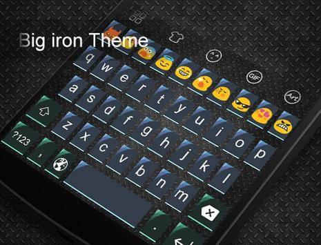 Big Iron -Love Emoji Keyboard apk screenshot