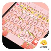 Pink Cat Theme -Cute Keyboard icon