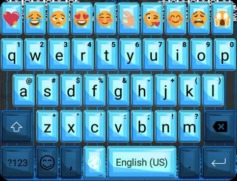 Blue Lace Emoji Keyboard poster