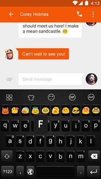 Dark Black-Love Emoji Keyboard apk screenshot