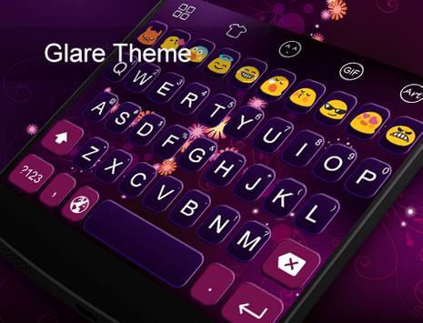 Glare -Video Emoji Keyboard apk screenshot