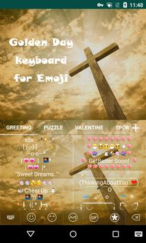 Golden Day Emoji Keyboard apk screenshot
