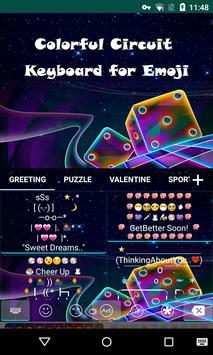 Color Circuit Emoji Keyboard apk screenshot