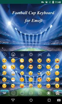 Football Cup Emoji Keyboard apk screenshot