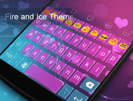 Fire And Ice -Video Keyboard apk screenshot