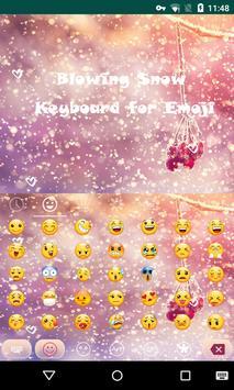 snow emoji keyboard apk screenshot