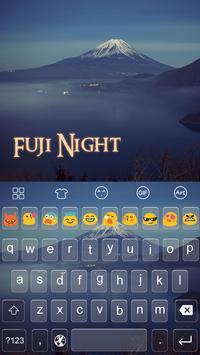 Fuji Night -Emoji Keyboard poster