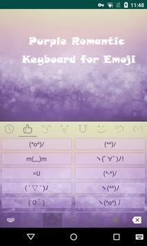 Purple Bubble Dream Keyboard apk screenshot