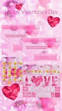 Valentine Love Keyboard -Emoji screenshot 7