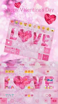 Valentine Love Keyboard -Emoji screenshot 4
