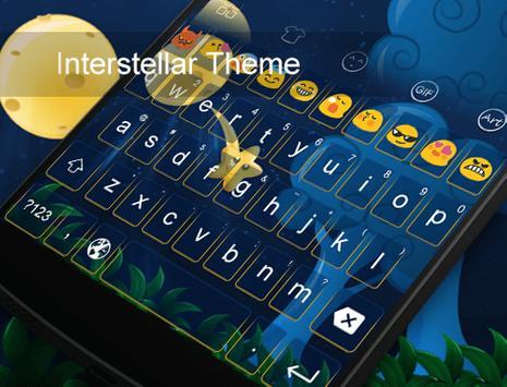 Interstellar -Emoji Keyboard screenshot 4