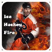Ice Hockey Fire Emoji Keyboard icon