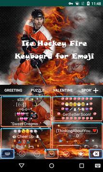 Ice Hockey Fire Emoji Keyboard apk screenshot