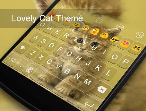 Lovely Cat -Emoji Keyboard apk screenshot