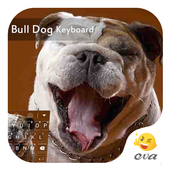 Lovely Bull Dog Emoji Keyboard icon