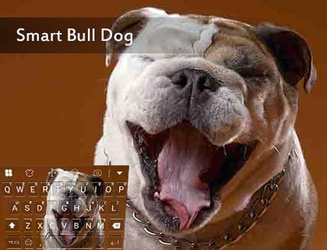 Lovely Bull Dog Emoji Keyboard poster