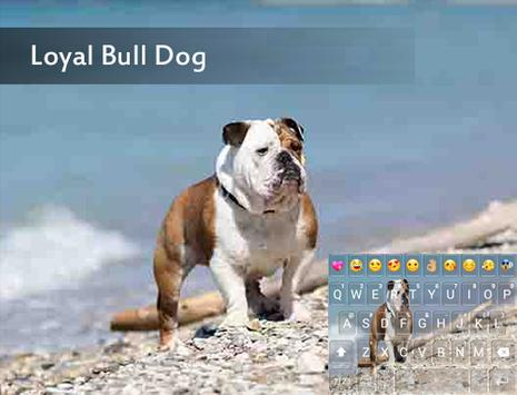 Loyal Bull Dog Emoji Keyboard poster