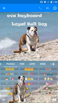 Loyal Bull Dog Emoji Keyboard apk screenshot