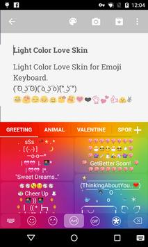 Light Color Emoji keyboard screenshot 3