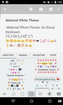 Material White Emoji Keyboard apk screenshot
