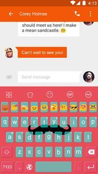 Mustache -Kitty Emoji Keyboard apk screenshot