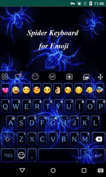 Horrible Spider Emoji keyboard apk screenshot
