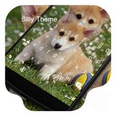 Silly Dog-Kitty Emoji Keyboard icon